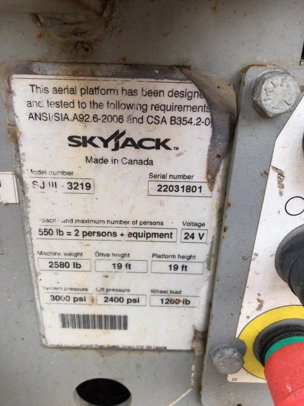 2012 Skyjack SJ3219