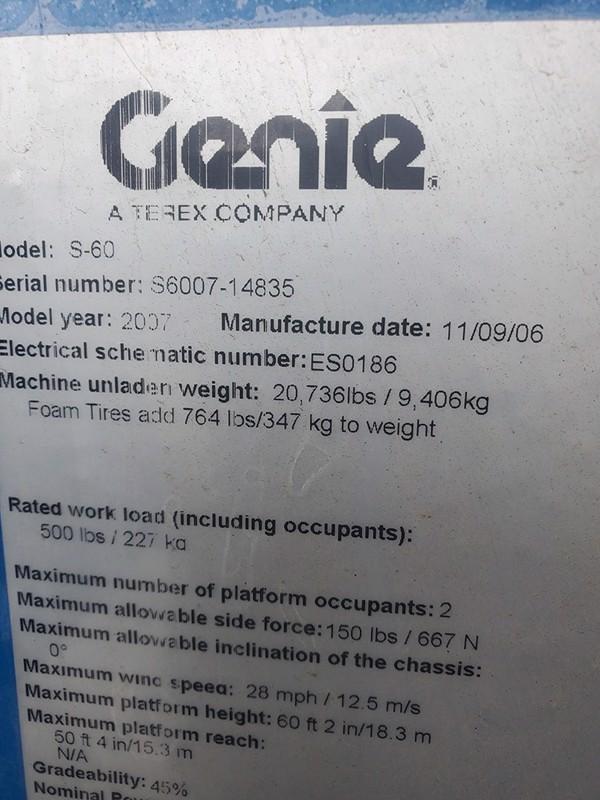 2007 Genie S-60