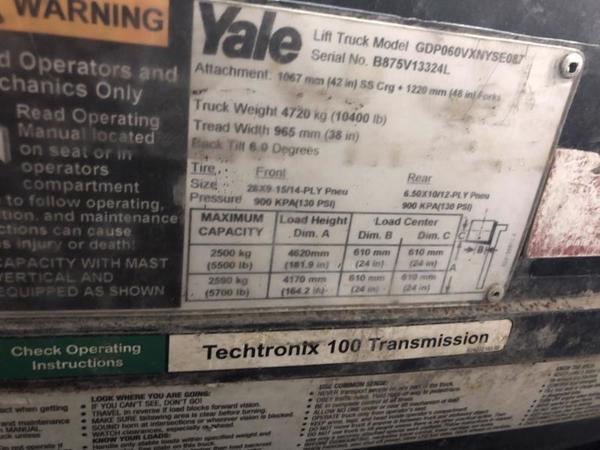2013 Yale GDP060VX