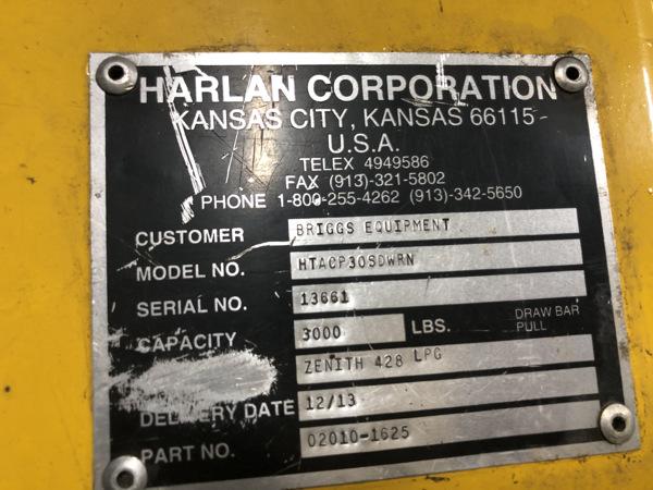 2013 Harlan Global Manufacturing HT30